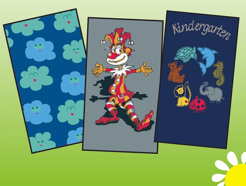 Mattenmotive von Schmutzfangmatten für Kindegärten