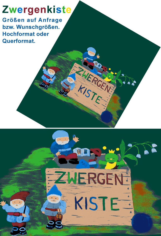 Zwergenkiste - Motive unserer neuen Schmutzfangmatte für Kindegärten